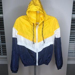NWOT windbreaker short hooded